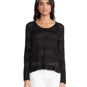 RAG & BONE Stripe Semi Sheer light crew sweater